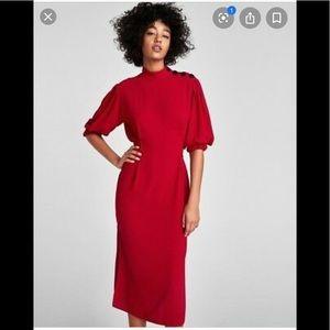 Zara Red Midi dress